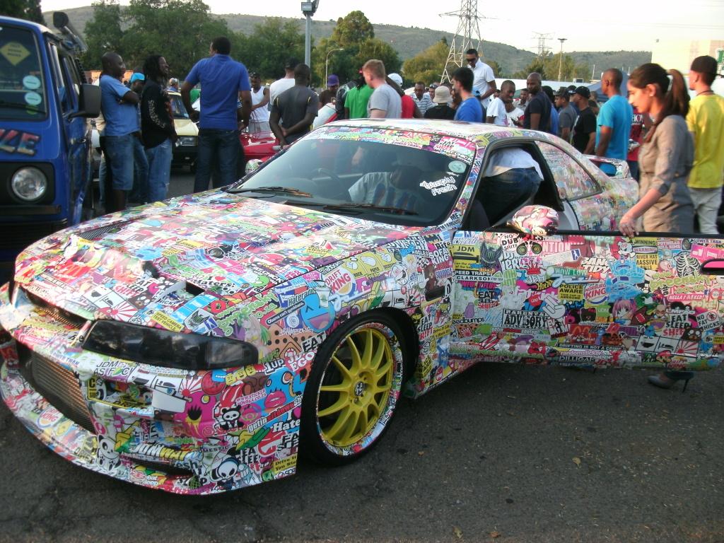 Sticker Bombed R33 Nissan Skyline GT-R