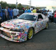 Sticker Bombed R33 Nissan Skyline GT-R