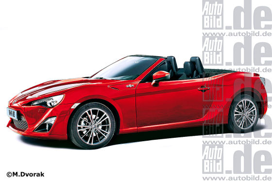 Toyota FT86 Convertible Rendering