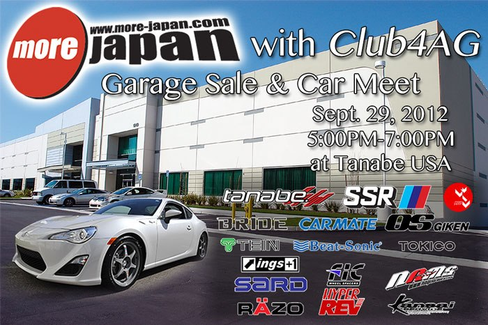 More Japan & Club4AG - Garage Sale & Car Meet